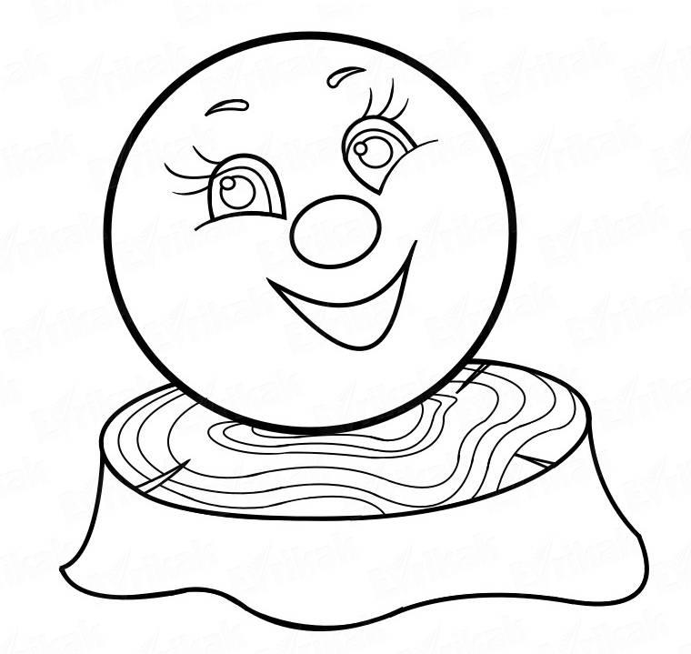 Иллюстрации к сказке колобок поэтапно также
