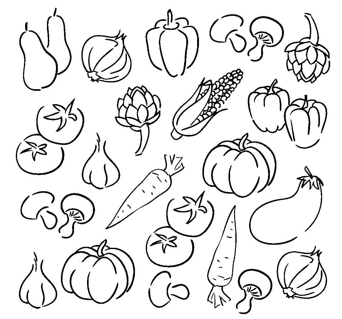 Картинка трафарет овощи